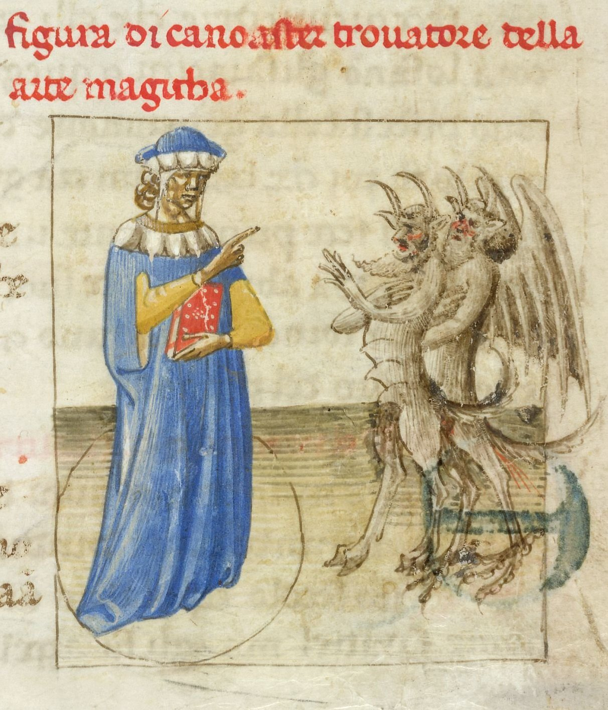 Medieval necromancy, the art of controlling demons