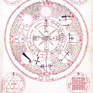 15. A figure from the Italian version of the 'Lesser Key of Solomon' (Paris, BnF, MS It. 1524, f. 186r).