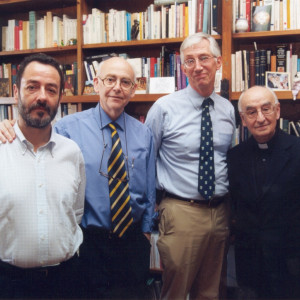 15. Meeting of the editorial board of AVOMO (Barcelona, May 2000), with Juan Antonio Paniagua, Michael R. McVaugh and Jon Arrizabalaga