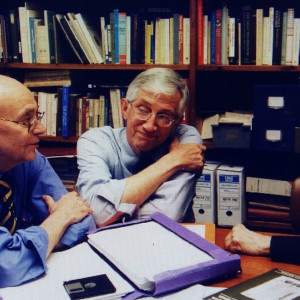 14. Meeting of the editorial board of AVOMO (Barcelona, May 2000), with Juan Antonio Paniagua and Michael R. McVaugh